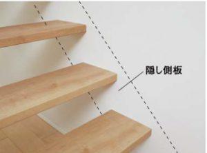 その他側板を見せない設計の階段
