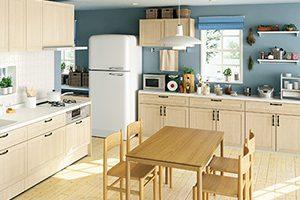 明るいキッチンとなり気分も開放的に!