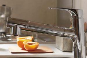 水栓は浄水器一体型